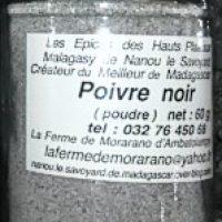 Poivre noir en poudre - 60g